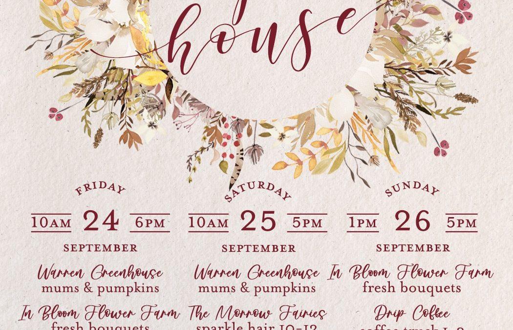 Fall Open House! 9/24-9/26 — featuring the Sheila Fajl Trunk Show